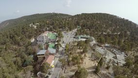 View of Troodos mountain square stock video footage