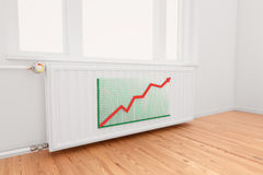 Ascending Arrow Graph On Radiator Stock Photography