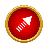 An ascending arrow icon, simple style Royalty Free Stock Image