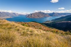 Ascending the Ben Lomond Track royalty free stock image