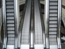 Ascending and descending mall escalators Stock Image