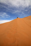 Ascending desert dune Stock Photography