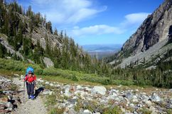 Ascending Paintbrush Divide Trail Royalty Free Stock Photo