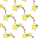 Ascending star as seamless  Royalty Free Stock Photos