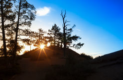 Ascending Sun in the Very Early Morning at Sunrise Point of Bryc Royalty Free Stock Photo