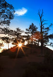 Ascending Sun in the Very Early Morning at Sunrise Point of Bryc Royalty Free Stock Images