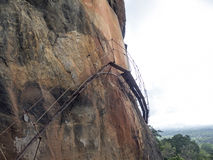 The ascending trail to Sigiriya, Sri Lanka stock photography