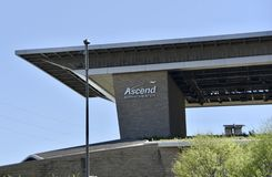Ascensão a baixa do anfiteatro, Nashville, TN foto de stock