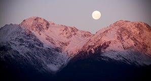 Ascensão da lua Fotos de Stock Royalty Free