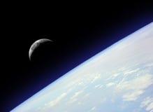 Ascensão da lua Foto de Stock Royalty Free