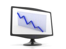 Ascensão da seta no indicador do monitor Imagem de Stock