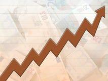 Ascensão do dinheiro Imagens de Stock Royalty Free