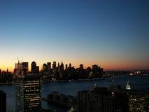 Ascensão do sol de Nyc Foto de Stock
