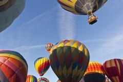 Ascensão em massa na grande raça do balão de Reno fotografia de stock