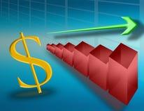 Ascensão no dólar (02) Imagem de Stock