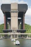 Ascenseur de bateau de Strépy-Thieu dans le canal du Centre, la Wallonie, Belgique Image libre de droits