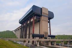 Ascenseur de bateau de Strepy-Thieu Photos stock