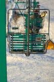 Ascenseur de chaise de station de sports d'hiver photos libres de droits