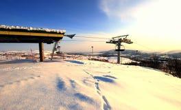 Ascenseur de chaise de station de vacances Norvège Image stock