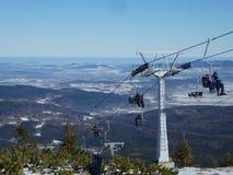 Ascenseur de chaise de montagne de Szrenica Images libres de droits