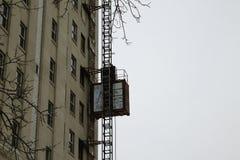 Ascenseur de construction Photographie stock libre de droits