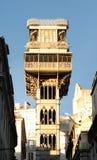 Ascenseur de justa de Santa à Lisbonne Image libre de droits