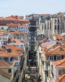 Ascenseur de justa de Santa ? Lisbonne images stock