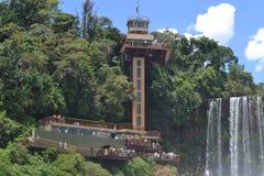 Ascenseur en quelques automnes d'Iguassu Photo stock