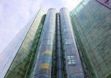 Ascenseur en verre Images libres de droits