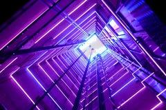 Ascenseur en verre coloré images stock