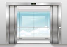 Ascenseur panoramique extérieur illustration libre de droits