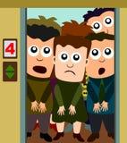 Ascenseur serré Photo libre de droits