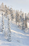 Ascenseurs de station de sports d'hiver Photo libre de droits
