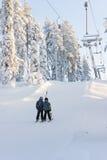 Ascenseurs de station de sports d'hiver Image stock