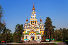 Ascension Cathedral in Almaty Stock Photos