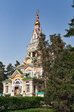 Ascension Cathedral in Almaty Stock Photography