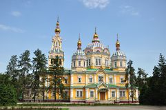 The Ascension Cathedral in Almaty Stock Photos