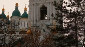 Ascension Cathedral In Astrakhan Russia. Virgine Mary Ascension Cathedral In Astrakhan Russia stock video