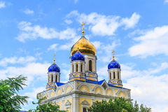 Ascension Cathedral - the main Orthodox church of the city of Yelets, the cathedral church of Elets Diocese Royalty Free Stock Images