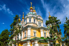 Ascension Cathedral in Panfilov Park of Almaty, Kazakhstan Royalty Free Stock Images