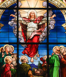 Ascension of Christ - Stained Glass Stock Image