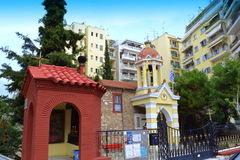 Ascension church chapel Thessaloniki Greece Stock Images