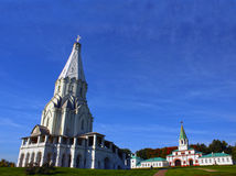 Ascension Church in Kolomenskoye park in Moscow Royalty Free Stock Photography