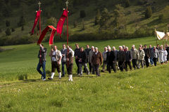 Ascension Day Procession in Bavaria Royalty Free Stock Photo