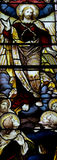 The Ascension of Jesus Christ in stained glass Stock Photos