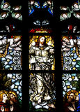 Ascension of jesus Christ in stained glass Stock Photos