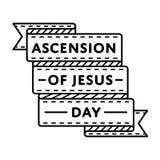 Ascension of Jesus holiday greeting emblem Stock Image