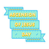 Ascension of Jesus holiday greeting emblem Stock Images