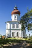 Ascension skit of the Solovetsky monastery, founded in the XIX century the Sekirnaya mountain on Bolshoy Solovetsky Island the Sol. Ovetsky archipelago stock photography