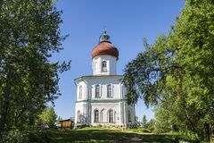 Ascension skit of the Solovetsky monastery, founded in the XIX century the Sekirnaya mountain on Bolshoy Solovetsky Island the Sol. Ovetsky archipelago royalty free stock photography